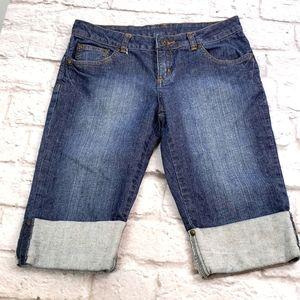 Prana Women's Bermuda Cuffed Jeans Shorts size 2